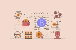 Cryptocurrency concept illustratie