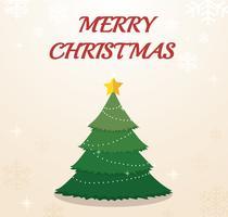 Kerstboom en ruimte voor tekstachtergrond vector