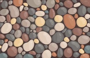 moderne stijl close-up ronde steen achtergrond behang vectorillustratie