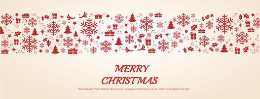De groetkaart van Kerstmis met ruimtepatroon vectorillustratie als achtergrond