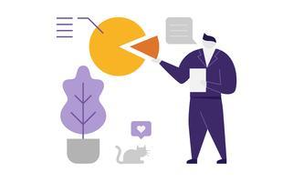 Abstracte zakenman geven een presentatie vector