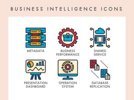 Business intelligence-pictogrammen