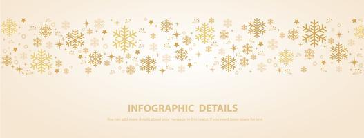 sneeuwvlok winter banner achtergrond