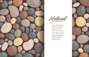 moderne stijl close-up ronde stenen achtergrond en ruimte voor schrijven behang vectorillustratie