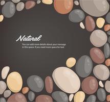 moderne stijl close-up ronde stenen achtergrond en ruimte voor schrijven behang vectorillustratie vector
