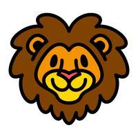 Leeuw hoofd cartoon illustratie