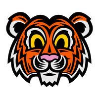 schattige cartoon tijger kat vector