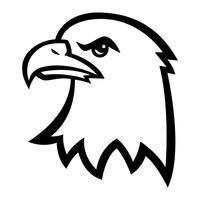adelaar cartoon hoofd vector