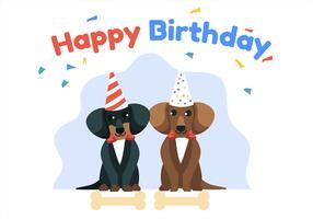 gelukkige verjaardag dierlijke honden vector