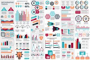 Infographic elementen data visualisatie vector ontwerpsjabloon. Kan worden gebruikt voor stappen, opties, bedrijfsprocessen, werkstroom, diagram, stroomdiagramconcept, tijdlijn, marketingpictogrammen, infografieken.