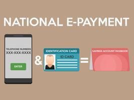 Nationaal E-betalingsontwerp vector