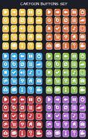 Knoppakket met cartoonknopenset, GUI-element voor mobiel spel