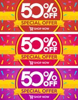 Set van verkoop banners ontwerp. Vector illustratie