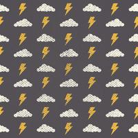 Vector Naadloos Grunge Wolkenpatroon, Abstracte achtergrond-02