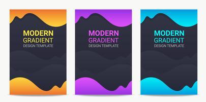 Vloeistof Moderne gradatie achtergrond ontwerpsjabloon ingesteld vector