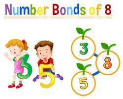 Nummer obligaties van acht vector