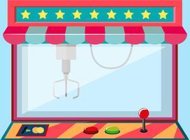 Een klauwkraanmachinegame vector