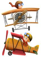 Set van klassiek vliegtuig