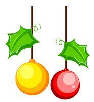 Twee kerstboomversieringen