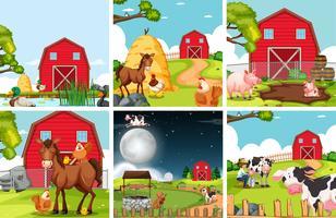 Set van landbouwgrond landschap vector