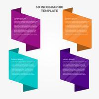 Platte 3d Infographic tabel Vector sjabloon