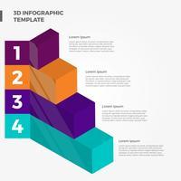 Platte 3D Infographic elementen Vector sjabloon