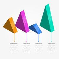 Platte driehoek 3D Infographic Vector sjabloon