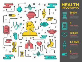 Gezondheid en medische lijntekeningen