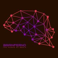 Leuke menselijke hersenen hemisferen Vector