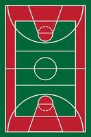 basketbalveld vectorillustratie vector