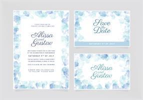 Vector bruiloft uitnodiging sjabloon