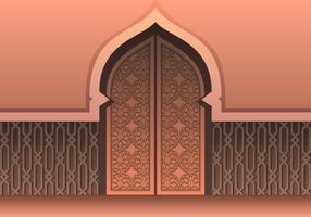 Moskee deur Vector
