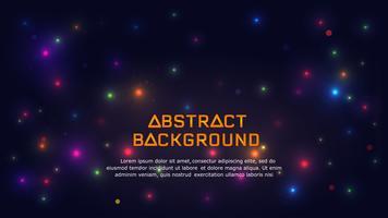 Abstracte gloeiende lichte achtergrond. vector