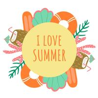 Leuke zomer achtergrond vector