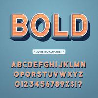 Retro 3D vet alfabet