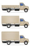 vrachtvrachtwagen voor transport van goederen vectorillustratie