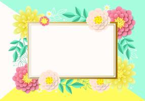 Vector bloemen achtergrondontwerp
