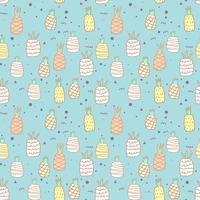 Naadloos patroon met ananasachtergrond. Vectorillustraties voor gift wrap ontwerp.