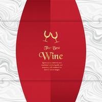Luxe verpakking sjabloon in moderne stijl voor wijn dekken, bier vak. Vectorillustratie in premium concept. EPS 10. vector