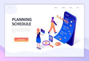 Modern plat ontwerp isometrisch concept Planning Planning