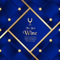 Luxe verpakking sjabloon in moderne stijl voor wijn dekken, bier vak. Vectorillustratie in premium concept. EPS 10.