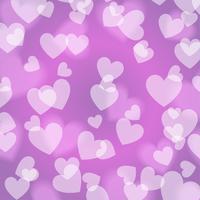 Purper violet Bokeh Hart, patroon, vector