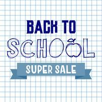 Terug naar school super verkoop achtergrond. Advertentie tag concept.