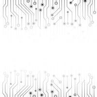 Witte abstracte achtergrond met elektronica printplaat. Grijze samenvatting. Futuristische technologie en textuur concept. Communicatielijn systeemthema. vector