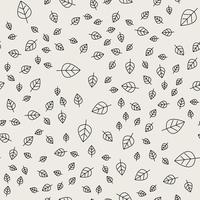 Naadloze patroonachtergrond. Abstract en klassiek concept. Geometrisch creatief ontwerp stijlvol thema. Illustratie vector. Zwart en witte kleur. Bladvorm voor natuur- en milieudag