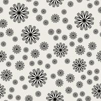 Naadloze patroonachtergrond. Modern abstract en Klassiek antiek concept. Geometrisch creatief ontwerp stijlvol thema. Illustratie vector. Zwart en witte kleur. Bloem- en bloemvorm