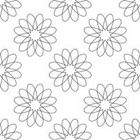 Naadloze patroonachtergrond. Modern abstract en Klassiek antiek concept. Geometrisch creatief ontwerp stijlvol thema. Illustratie vector. Zwart en witte kleur. Bloem- en bloemvorm vector