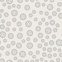 Naadloze patroonachtergrond. Modern abstract en Klassiek antiek concept. Geometrisch creatief ontwerp stijlvol thema. Illustratie vector. Zwart en witte kleur. Technologie verbindingslijn cirkelvorm