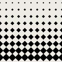 Naadloze patroonachtergrond. Modern abstract en Klassiek antiek concept. Geometrisch creatief ontwerp stijlvol thema. Illustratie vector. Zwart en witte kleur. Rechthoekige vierkante halftonige vorm