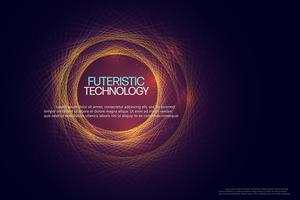 Abstracte technische achtergrond. vector
